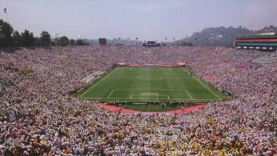 Rose Bowl stadium football match
