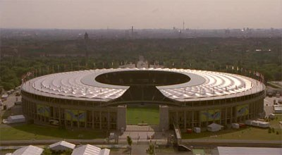 Olympiastadion aerial view
