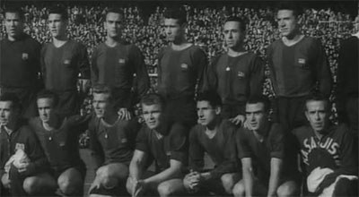 FC Barcelona team in 1953