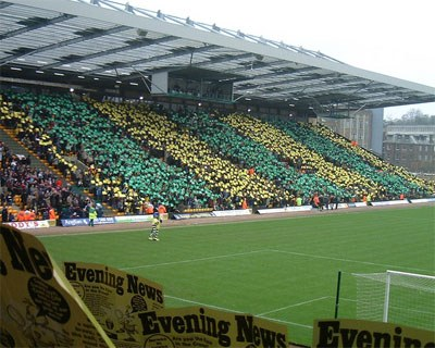 Carrow Road stand and field