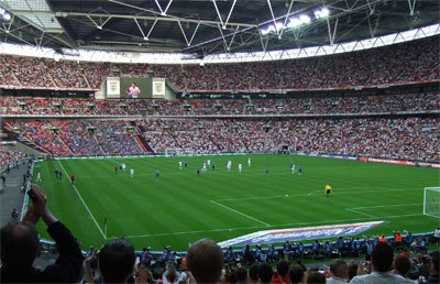 football match at Wembley
