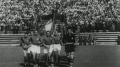 Italian players with flag