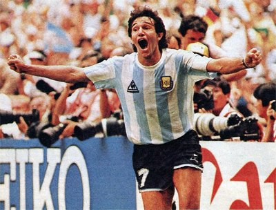 Jorge Burruchaga celebrate after goal