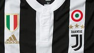 Juventus shirt with tricolor rosette