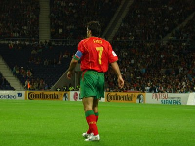 Luis Figo from behind on field