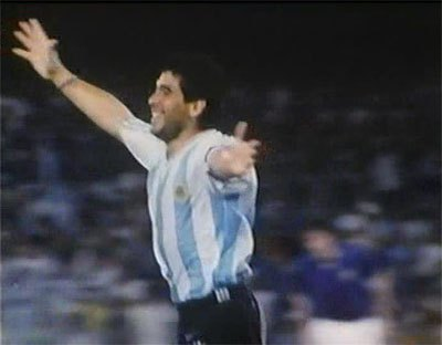 Maradona playing in FIFA World Cup 1990