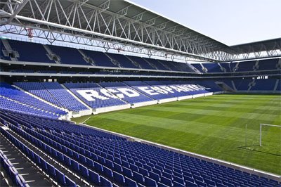 RCDE Stadium interior
