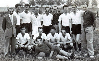 Udinese black and white team photo